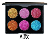 ThinkMax Glitter Eyeshadow Palette Women Diamond Sequins 6 Colours Makeup Cosmetics Beauty Tools