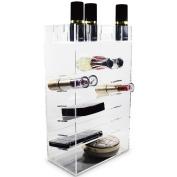 Ikee Design Acrylic Makeup Holder Home Organiser Cosmetic Storage Box Lipstick Rack Palette Holder 16cm W x 8.9cm D x 27cm H