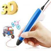 3D Printing Pen,Hapimp Intelligent Printer Pen Compatible with PLA/PCL Filament, Safety, Portable 3D Doodle Drawing Pen,with 2 PCL 1.75mm Filament Refills,for Kids,Adults,Arts,Craft,Creative,Learning