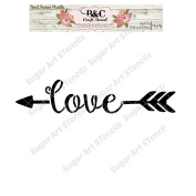 Word Love stencil for craft and home decoration CFT8