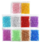 Kuuqa 500g Fishbowl Slime Beads Small Craft Beads for Homemade Slime Decorations, 10 Colours