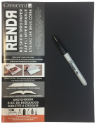 Crescent Creative Products 12-00520 Rendr Lay Flat Sketchbook with Sharpie, 22cm x 11""