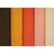 Just Artefacts Italian Style Premium Crepe Paper Rolls - 2.4m Length/50cm Width (5pcs, Colour