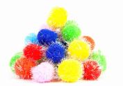 TECH-P Arts Craft Pom Poms Glitter Poms Sparkle Balls– Assorted Colour
