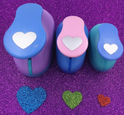 TECH-P Creative Life 3 PCS (3.8cm ,2.5cm ,1.6cm ) Heart Shape Craft Punch Scrapbook Paper Cutter Eva Foam Hole Punches