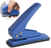 MROCO 1-Hole Punch,0.6cm Holes, Hole Puncher, Reduced Effort Paper Punch, 20 Sheets Capacity, with Skid-resistant Base for PVC ID Card, Paper, Chipboard, Leather, Plastic, and Fabric