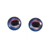10mm Pair of Galaxy Unicorn Glass Eyes, for Jewellery Making, Arts Dolls, Sculptures, and More