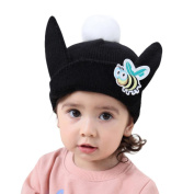 Toddler Winter Warm Hat,Sunbona Childres Baby Girls Cute Cartoon Bee Ear Warm Winter Knitted Cap Hat Beanie