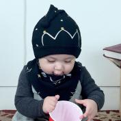 Sunbona 2PCS Set Cotton Toddler Baby Boys Girls Winter Warm Cap Hat Bib Head Scarf Toddler Saliva