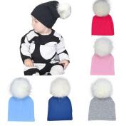 Toddler Winter Warm Hat,Sunbona Newborn Cute Photography Prop Photo Hairball Beanie Cotton Cap