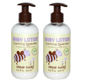 Little Twig Calming Lavender Baby Lotion (Pack of 2) with Vitamin E, Sunflower Seed Oil, Cucumber Fruit Extract and Jojoba, 250ml