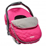 JJ Cole Blanket-style Design, Weather-resistant, Stylish, Comfortable, Made from Kids-safe Materials, Car Seat Cover in Sassy Pink Wave