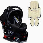 Britax B-Safe 35 Elite Infant Car Seat & Support Pillow, Domino