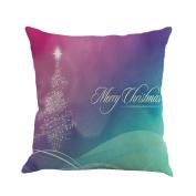 Mose Christmas Cotton Linen Sofa Car Home Decor Throw Pillow Case Cover