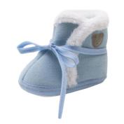 Hongxin Toddler Newborn Baby Bear Print Soft Sole Boots Prewalker Warm Winter Shoes Snow Boots