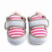 Leedford Infant Baby Non-slip First Walking Shoes Walker Newborn Baby Boy Girl Outdoor Stripe Boots