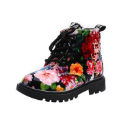 Girls Fashion Floral Printed Martin Boots Baby Martin Boots Kids Casual Shoes Rain Boots