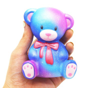 Littleice 10cm Galaxy Teddy Cream Scented Squishy Slow Rising Squeeze Strap Kids Toy Gift