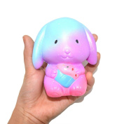 Littleice 10cm Galaxy Bunny Cream Scented Squishy Slow Rising Squeeze Strap Kids Toy Gift