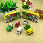 6 Pieces Cartoon Car Toy Inertia Pullback Car Toy Set Christmas Halloween Gift for Kids and Toddlers