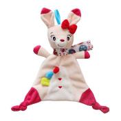 KINGSEVEN Baby Girl Snuggle Blankie Plush Security Blanket Animal Towel Toys