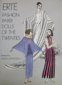 ERTE Fashion PAPER DOLLS of The TWENTIES BOOK (UNCUT) w 6 CUT OUT Card Stock DOLLS & 43 COSTUMES