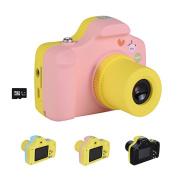 Children Digital Camera Mini 3.8cm Screen for Kids 21 Mega Pixels HD Digital Camera Handheld Micro Digital Camcorder Indoor Outdoor for Adults /Seniors / Kids Pink