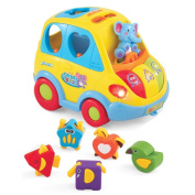 Educational Interactive Bus 18 Month Baby Infant Toy with Sounds