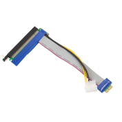Gotd PCI-E 1x To 16x Riser Card Ribbon Extender Extension Cable With Molex Power