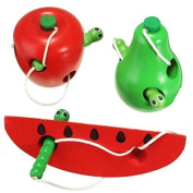 Vi.yo Educational Toy for Baby Wooden Baby Over 6 Monthes Threading apple