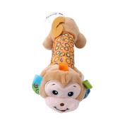 OrliverHL Hand Stick-Multifunctional Animal Mirror Hand Stick£¬Cartoon Animal Baby Soft Plush Hand Rattle Squeaker Sticks for Toddlers ,monkey