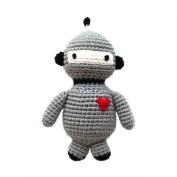 Cheengoo Organic Crocheted Robot Rattle