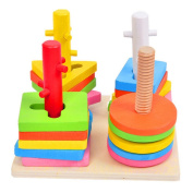 TOYMYTOY Stacking Toys Sorter Puzzle Wooden Educational Toys for Baby Toddler