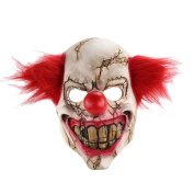 Full Face Latex Mask Scary Clown Halloween Costume Evil Creepy Party Horror Prop
