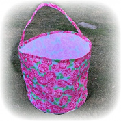 Rose Pattern Bucket, Beach Bag, Gardening Tote, Shell Bag, Candy Bag, Trick or Treat Bag
