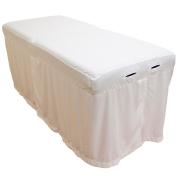 Microfiber Massage Table Skirt - White