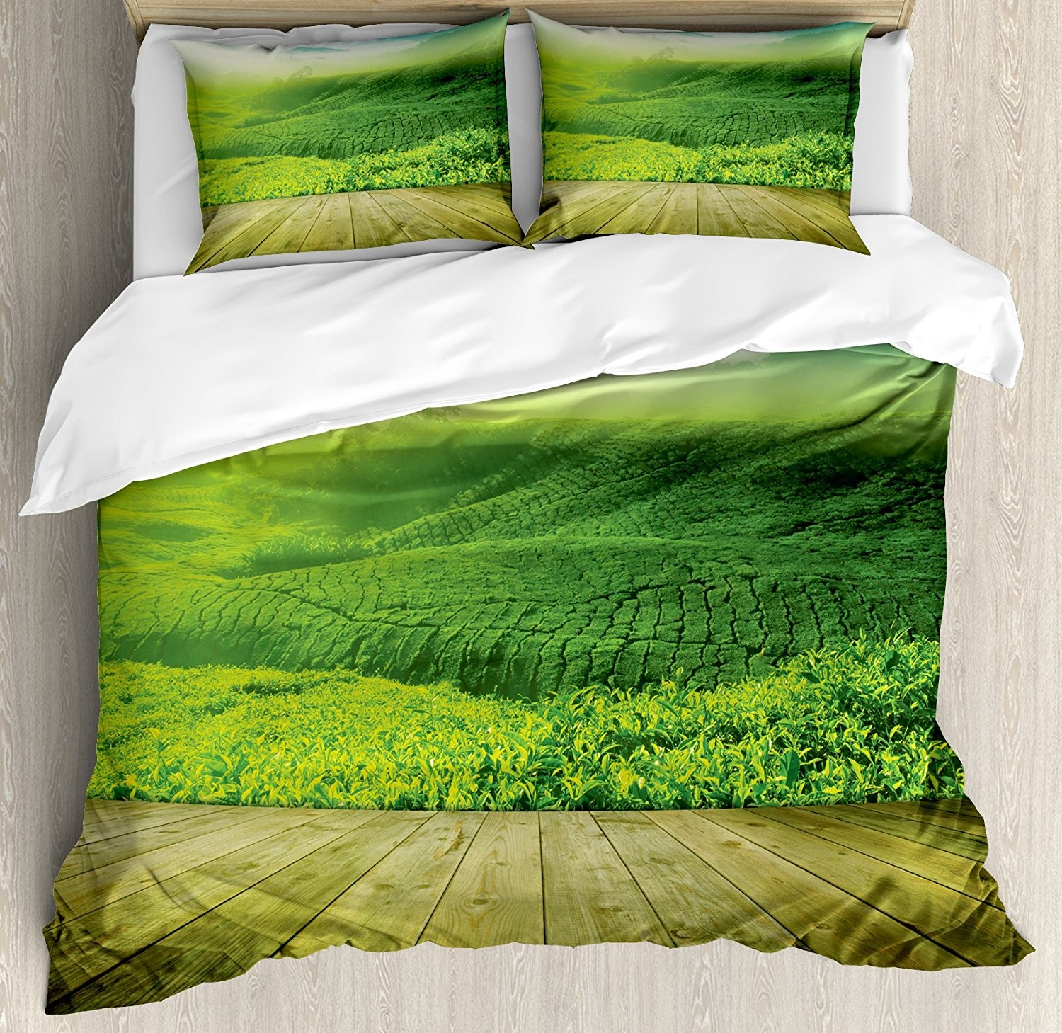 King-Multi-1-Green-King-Size-Duvet-Cover-Set-by-Ambesonne-Wood-Platform