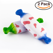 WATINC 2Pcs Food Squishies, Kawaii Candy Cream Scented Slow Rising squishy, Kid Toy, Lovely Toy,Stress Relief Toy,Decorations Toy Gift Fun