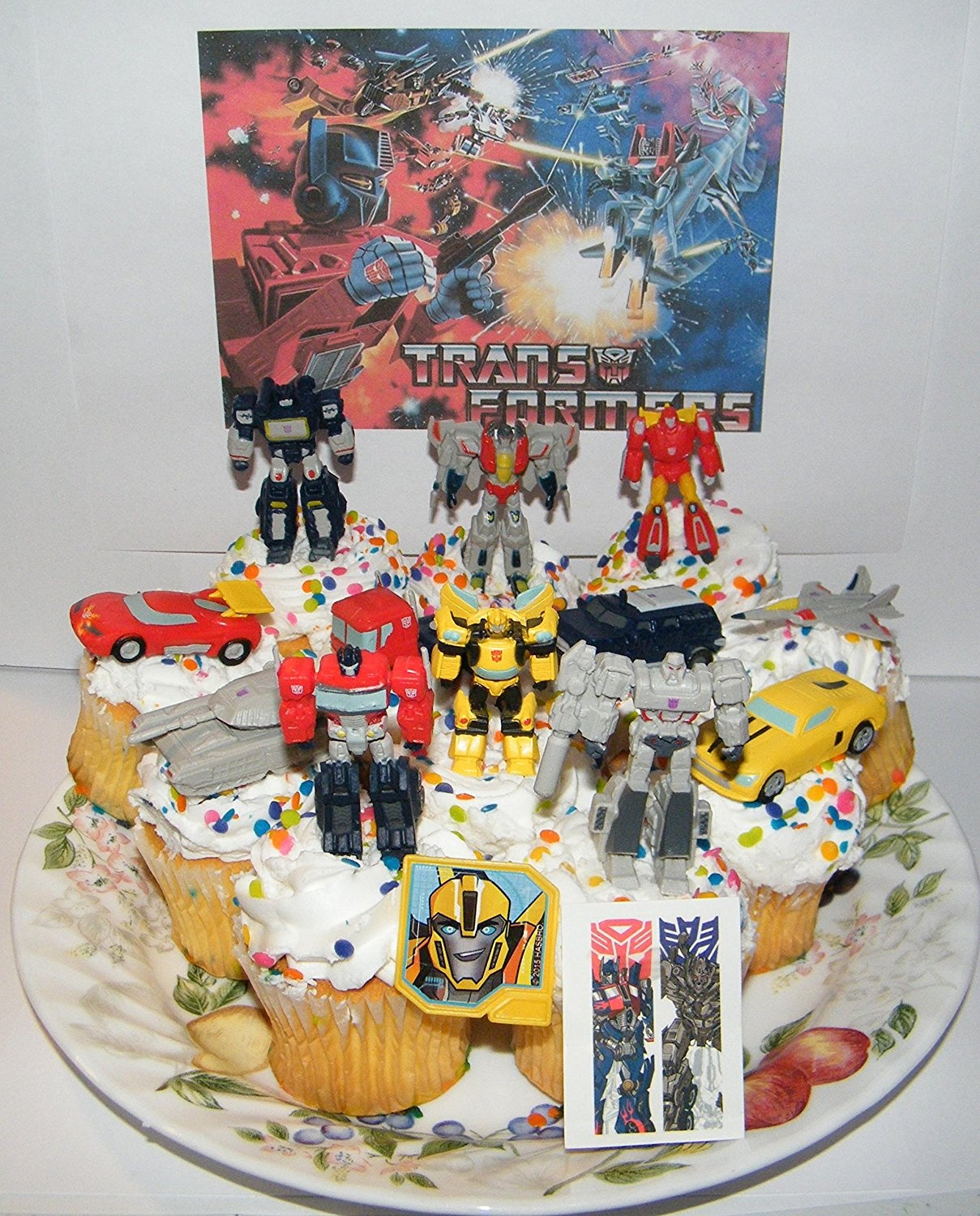 Transformers Deluxe Mini Cake Toppers Cupcake Decorations Set Of 14