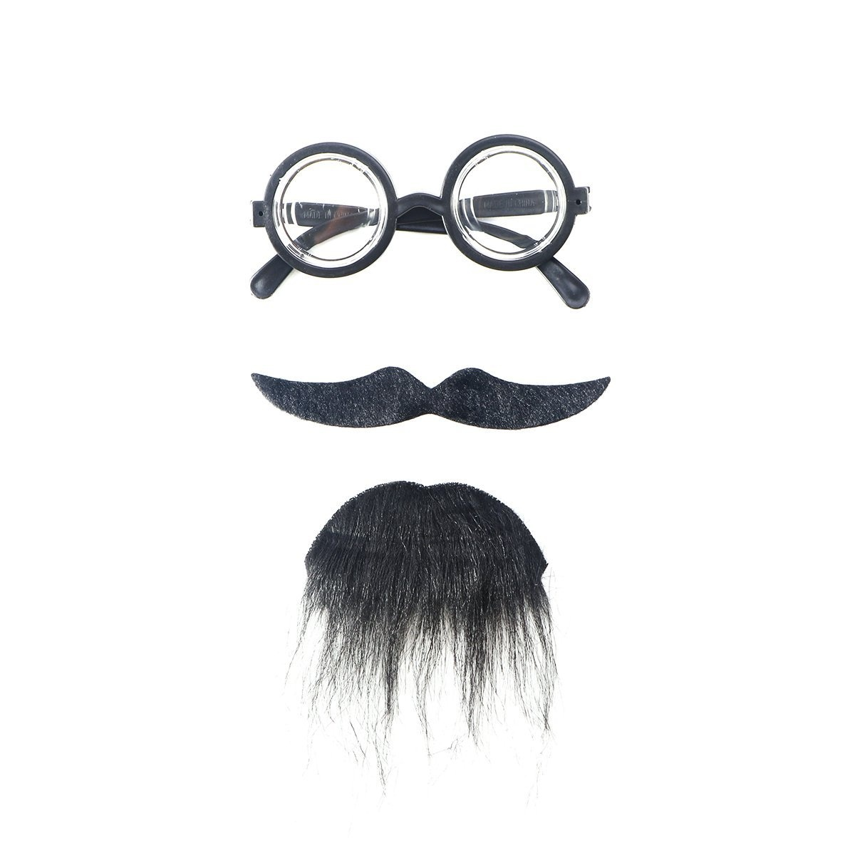 Black Party Supplies Amosfun 6pcs Fake Mustache Moustache