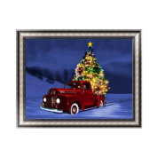 OHTOP Christmas Car DIY 5D Diamond Embroidery Painting Cross Stitch Home Decor Craft