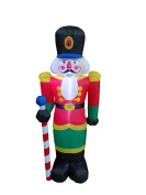 1.8m Tall Lighted Christmas Inflatable Nutcracker Indoor Outdoor Yard Art Decoration