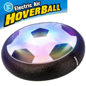 Air Power Soccer Disc, BENEW Pneumatic Suspended Football with Foam Bumpers and LED Light ,Boys Girls Sport Children Toys Training Football for Indoor or Outdoor with Parents Game.