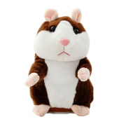 Creative Nod Talking Hamster Toys Repeats What You Say Electronic Pet Talking Plush Buddy Mouse for Child Surprise Gift - Dark Brown