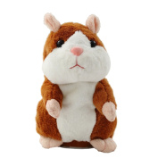 Creative Nod Talking Hamster Toys Repeats What You Say Electronic Pet Talking Plush Buddy Mouse for Child Surprise Gift - Brown
