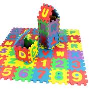 36Pcs Baby Child Number Alphabet Puzzle Foam Maths Educational Toy Gift ,kaifongfu
