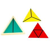 Montessori Math Toy Constructive Triangles Colourful Equilateral Triangle Montessori Matherial Toys for Child Gift