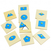 Home Edition Montessori Math Toys Wood Geometry Shape Insets Set/10 Blue Early Childhood Education Preschool Training Kids Toys