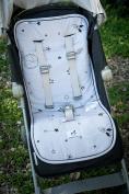 Stroller liner pad/ car seat liner - Pink - Galaxy Star