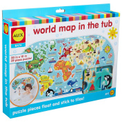 ALEX Bath World Map in the Tub